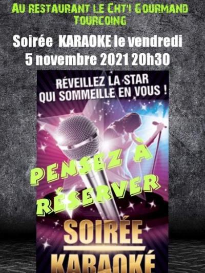 Soirée Karaoké vendredi 05 Novembre à 20h30 au Ch'ti gourmand à Tourcoing